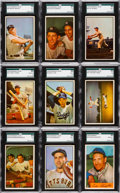 Baseball Cards:Lots, 1953 and 1954 Bowman Shoe Box Collection (116). ...