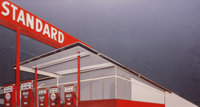Vik Muniz (b. 1961) Standard Station, after Ed Ruscha (from Pictures of Cars), 2008 Chrom