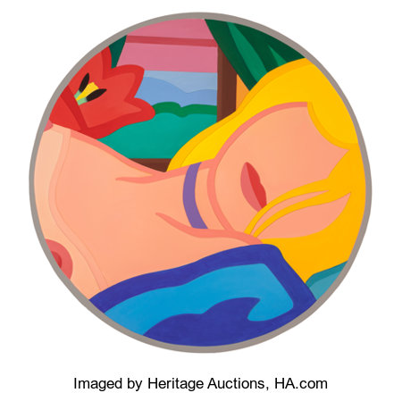 Tom Wesselmann (1931-2004) Blonde Vivienne (Filled In), 1985/1995 Alkyd oil on cut-out aluminum 50 inches (127 cm) di...
