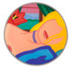 Tom Wesselmann (1931-2004) Blonde Vivienne (Filled In), 1985/1995 Alkyd oil on cut-out aluminum 50 inches (127 cm) di