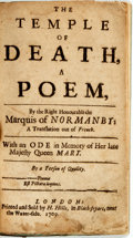Books:Literature Pre-1900, [Poetry]. [John Sheffield]. The Temple of Death, a Poem, by theRight Honourable Marquis of Normanby: a Translation Out ...
