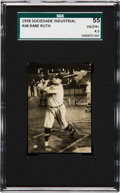 Baseball Cards:Singles (Pre-1930), 1928 Sociedade Industrial Babe Ruth #98 SGC 55 VG/EX+ 4.5 - TheOnly SGC Graded Example! ...