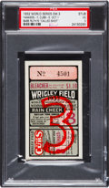 Baseball Collectibles:Tickets, 1932 Babe Ruth Called Shot World Series Game Three Ticket Stub& Program, PSA VG 3. ...