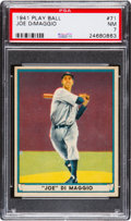 Baseball Cards:Singles (1940-1949), 1941 Play Ball Joe DiMaggio #71 PSA NM 7....