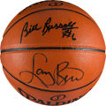 Basketball Collectibles:Balls, Larry Bird and Bill Russell Multi Signed Basketball....