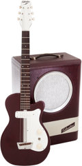 Musical Instruments:Electric Guitars, Circa 1954 Silvertone Model 1375 Maroon Solid Body Electric Guitar with Model 1344 Amplifier.... (Total: 2 Items)