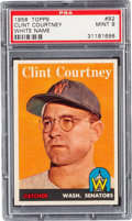 Baseball Cards:Singles (1950-1959), 1958 Topps Clint Courtney White Name #92 PSA Mint 9 - Pop Three,None Higher!...