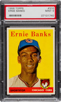 Baseball Cards:Singles (1950-1959), 1958 Topps Ernie Banks #310 PSA Mint 9 - None Higher!...