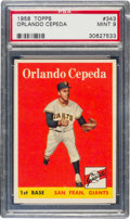 Baseball Cards:Singles (1950-1959), 1958 Topps Orlando Cepeda #343 PSA Mint 9 - None Higher!...