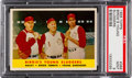 Baseball Cards:Singles (1950-1959), 1958 Topps Birdie's Young Sluggers #386 PSA Mint 9 - Pop Three, None Higher!...