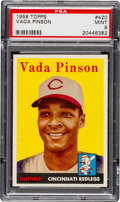 Baseball Cards:Singles (1950-1959), 1958 Topps Vada Pinson #420 PSA Mint 9 - Pop Three, None Higher!...