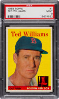 Baseball Cards:Singles (1950-1959), 1958 Topps Ted Williams #1 PSA Mint 9 - None Higher!...