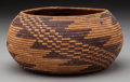 American Indian Art:Baskets, A Pomo Coiled Jar. c. 1910...