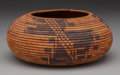 American Indian Art:Baskets, A Pomo Coiled Jar. c. 1900...