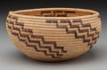 American Indian Art:Baskets, A Washo Polychrome Coiled Bowl. c. 1920...