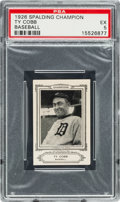 Baseball Cards:Singles (Pre-1930), 1926 Sports Co. of America Champions Ty Cobb PSA EX 5 - Only Two on the Census! ...