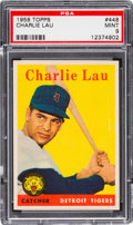 Baseball Cards:Singles (1950-1959), 1958 Topps Charlie Lau #448 PSA Mint 9 - Pop One, None Higher!...