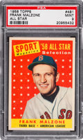 Baseball Cards:Singles (1950-1959), 1958 Topps Frank Malzone All Star #481 PSA Mint 9....