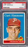 Baseball Cards:Singles (1950-1959), 1958 Topps Curt Simmons #404 PSA Mint 9 - Pop Three, NoneHigher!...