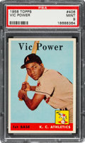 Baseball Cards:Singles (1950-1959), 1958 Topps Vic Power #406 PSA Mint 9....