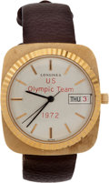 Olympic Collectibles:Autographs, 1972 Don Cohan Presentational Watch - Bronze Medalist in Sailing. ...