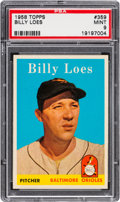 Baseball Cards:Singles (1950-1959), 1958 Topps Billy Loes #359 PSA Mint 9 - Pop Two, None Higher!...