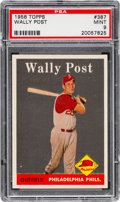 Baseball Cards:Singles (1950-1959), 1958 Topps Wally Post #387 PSA Mint 9....
