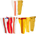 Football Collectibles:Uniforms, 1970s through 1990s College and Pro Football Pants Lot of 8 - Kindler Collection....