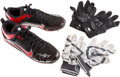 Baseball Collectibles:Others, 2012 Todd Frazier Game Used Cleats & Batting Gloves. ...