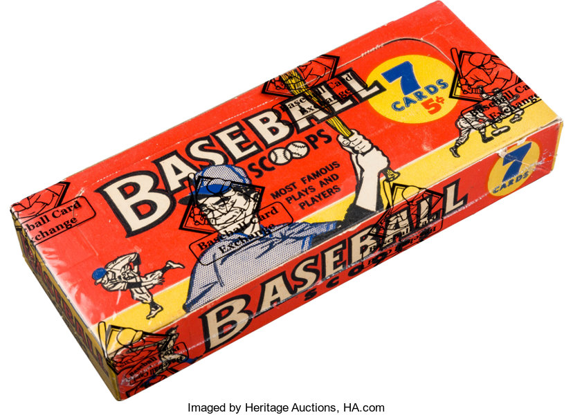 1961 Nu Cards Baseball Scoops Unopened 5 Cent Box
