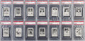 Baseball Cards:Sets, 1926 Spalding Champions Baseball PSA Graded Near Set (32/49) WithRare Blank and Ad Back. ...