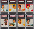 Baseball Cards:Sets, 1953 Red Man PSA Graded Collection (14 Different) - All NationalLeague Players. ...