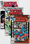 Modern Age (1980-Present):Superhero, Captain America Long Box Group (Marvel, 1982-89) Condition: AverageNM-....
