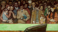 Norman Rockwell (American, 1894-1978) The Right to Know, Look magazine preliminary, 1968 Oil on phot