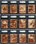 Non-Sport Cards:Sets, 1936 Universal Buck Jones Complete Set (12) - #1 on the SGCRegistry. ...