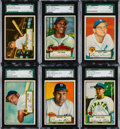 Baseball Cards:Lots, 1952 Topps First Series SGC 88 NM/MT 8 Collection (6). ...