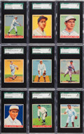 Baseball Cards:Lots, 1933 Goudey SGC 88 NM/MT 8 Graded Collection (9). ...