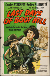 "Last Days of Boot Hill & Other Lot (Columbia, 1947). One Sheets (2) (27"" X 41""). Western. ... (Total: 2 It..."