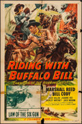 """Movie Posters:Serial, Riding with Buffalo Bill & Others Lot (Columbia, 1954). One Sheets (11) (27"""" X 41"""") and Three Sheet (41"""" X 78"""") Chapter 2 --... (Total: 12 Items)"""