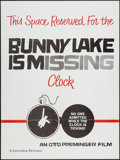 """Movie Posters:Mystery, Bunny Lake is Missing (Columbia, 1965). Poster (30"""" X 40"""") Clock Style. Mystery.. ..."""