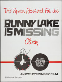 "Bunny Lake is Missing (Columbia, 1965). Poster (30"" X 40"") Clock Style. Mystery"