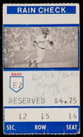 Baseball Collectibles:Tickets, 1978 Boston Red Sox Vs. New York Yankees Playoff Ticket Stub....