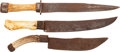 Edged Weapons:Knives, Three Handsome Forged Bowie Knives,... (Total: 3 )