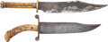 Edged Weapons:Knives, Pair of Unmarked Classic Cutler-Made Bowies.... (Total: 2 )