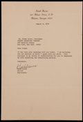 Baseball Collectibles:Others, 1979 Hank Aaron Signed Letter....