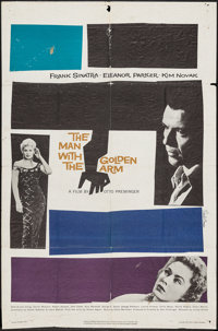 """The Man with the Golden Arm (United Artists, 1955). One Sheet (27"""" X 41""""). Drama"""