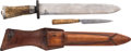 Edged Weapons:Knives, Unmarked Special Pair of English-Made Knives,...