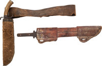 Pair of Unusual Blades and Scabbards