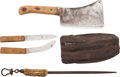 Edged Weapons:Other Edged Weapons, Kit: Skinner's outfit, 1890s.... (Total: 3 )