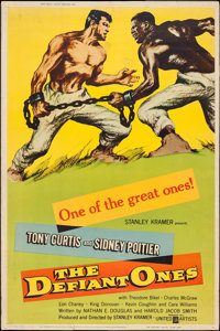 """The Defiant Ones (United Artists, 1958). Poster (40"""" X 60"""") Style Y. Drama"""